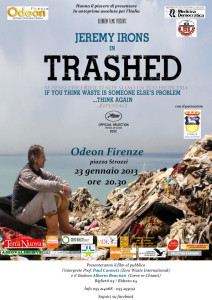 "Locandina del film documentario ""Trashed"""